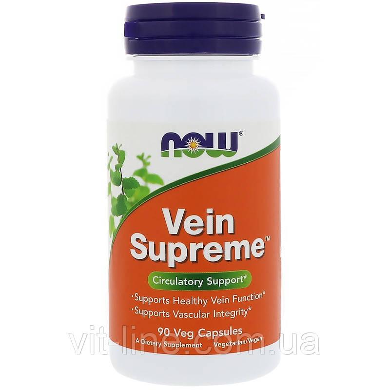 Now Foods, для вен Vein Supreme, 90 растительных капсул
