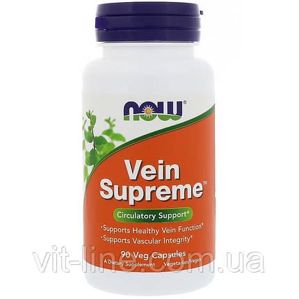 Now Foods, для вен Vein Supreme, 90 растительных капсул, фото 2