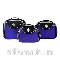 Сумка кейс саквояж Bonro Style (небольшой) черно-фиолетовый, фото 2
