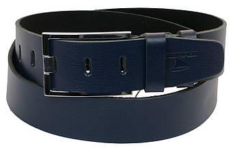 Мужской кожаный ремень под джинсы Skipper 1171-45 синий 4,5 см