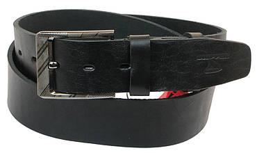 Мужской кожаный ремень под джинсы Skipper 1160-45 черный 4,5 см.