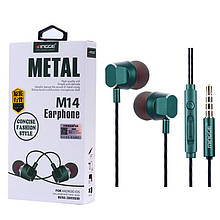 Наушники MINGGE M14 Metal Earphone
