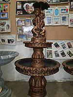 Фонтан выс. 160 см. садовый парковый бронза малыши 2-ярусный new