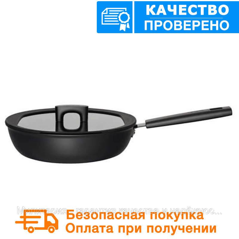 Сковорода с крышкой Fiskars Hard Face 26 см (1020890)