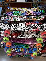 Скейт Пенни борд (Penny board), светящиеся колёса
