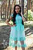 Кружевное платье миди на лето с сеткой 60031653
