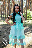 Кружевное платье миди на лето с сеткой 60031653, фото 1