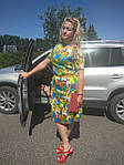 Ділове плаття батал літній бавовна Марокко Пл 105-6 батал 50-56, фото 5