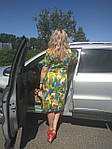 Деловое платье батал летнее хлопок Марокко Пл 105-6  батал 50-56, фото 3