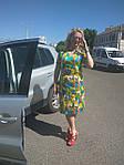 Деловое платье батал летнее хлопок Марокко Пл 105-6  батал 50-56, фото 4