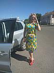 Деловое платье батал летнее хлопок Марокко Пл 105-6  батал 50-56, фото 5