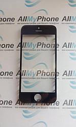 Стекло корпуса для Apple iPhone 5 с рамкой / OCA пленкой / черное