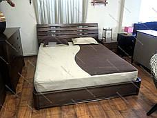 Кровать двуспальная деревянная   Мария  Микс мебель, цвет на выбор, фото 3