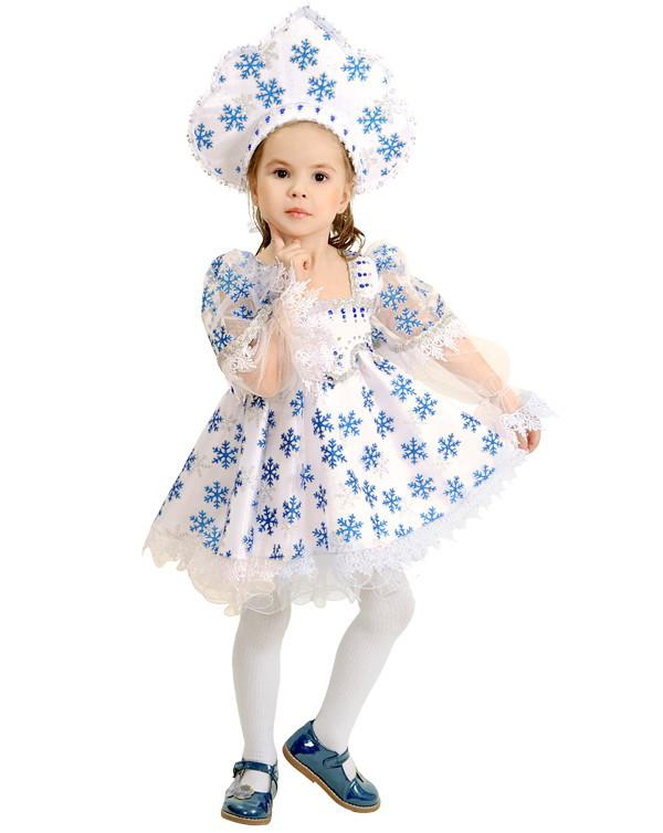 Снежинка с кокошником. Комплект - платье, кокошник (1187)