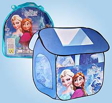 Дитяча ігрова палатка SG7009, Холодне серце Frozen, 112х102х114 см, в сумці
