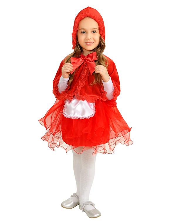 Красная Шапочка с капюшоном. Комплект - накидка, юбка (1676)