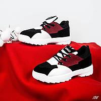 Кроссовки детские черно/красные, фото 1