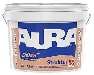 Краска среднеструктурная AURA DEKOR STRUKTUR фасадная 10л