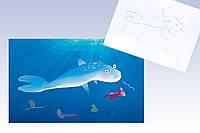Оригинальный декор для детского интерьера Картина по рисунку ребенка 60х40 и по под заказ, фото 1