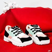 Кроссовки для девочек пудра/мята, фото 1