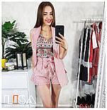 Женский костюм: жилет и шорты с высокой посадкой (2 цвета), фото 4