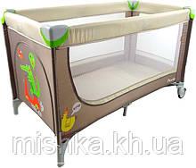 Манеж кровать Carrello Piccolo коричневый