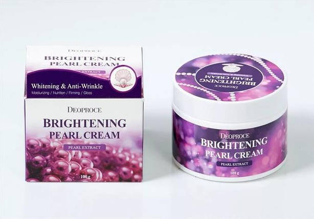 Увлажняющий крем с жемчугом для сияния кожи DEOPROCE Moisture Brightening Pearl Cream, 100 мл, фото 2
