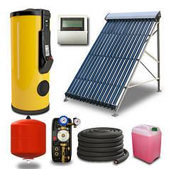Гелиосистема Sunrain на вакуумных коллекторах 300 л горячей воды в сутки на 6 человек