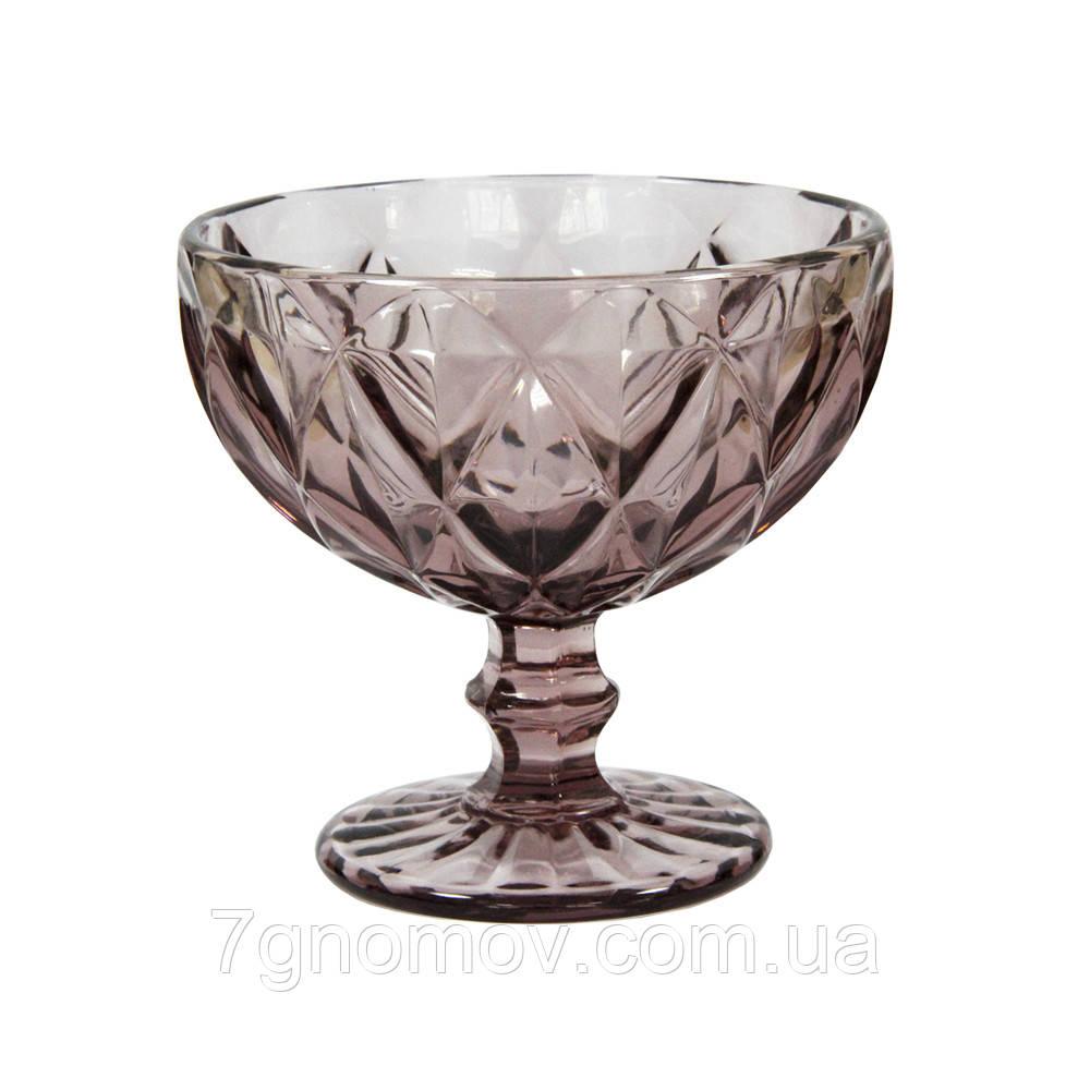 Креманка из цветного розового стекла Изольда