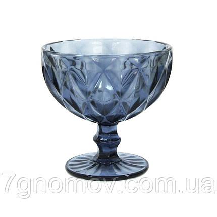 Креманка из цветного синего стекла Изольда , фото 2