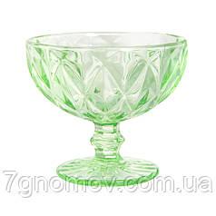 Креманка из цветного зеленого стекла Изольда