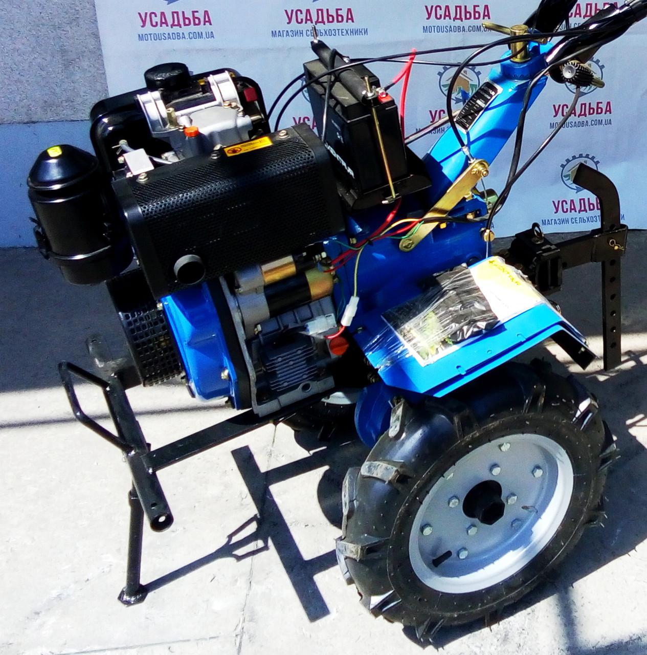 Дизельный мотоблок с электростартером Кентавр МБ 2061Д-4