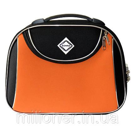 Сумка кейс саквояж Bonro Style (небольшой) черно-оранжевый, фото 2
