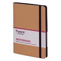 Книга записная Axent Partner Soft, 125х195 мм, клетка, золотая (8206-35-A)