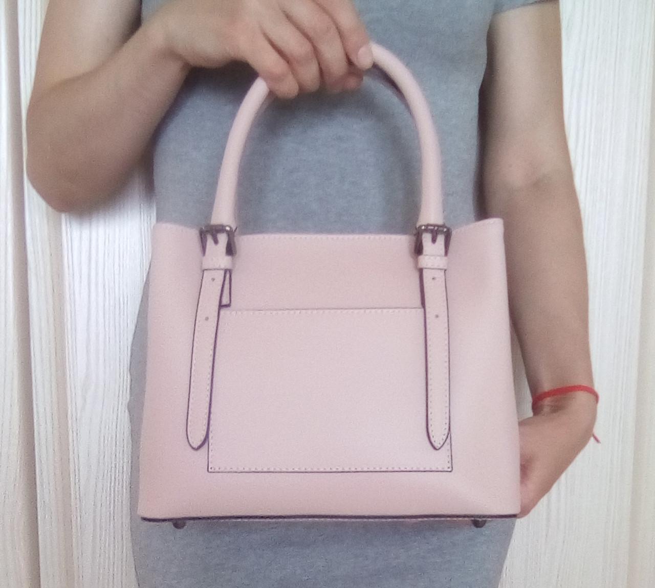 e9572e672d66 Женская кожаная сумка Италия, цвет пудра. - Интернет-магазин сумок и  аксессуаров