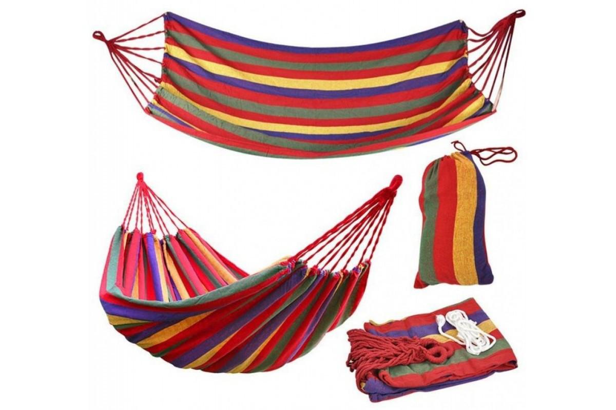 """Подвесной Гамак """"Relax"""" 200х80 см Разноцветный Мексиканский (Гавайский) Чехол в Подарок!!!"""