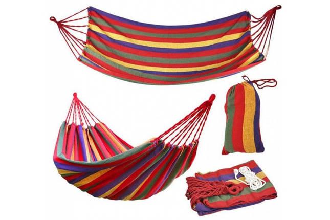 """Подвесной Гамак """"Relax"""" 200х80 см Разноцветный Мексиканский (Гавайский) Чехол в Подарок!!!, фото 2"""