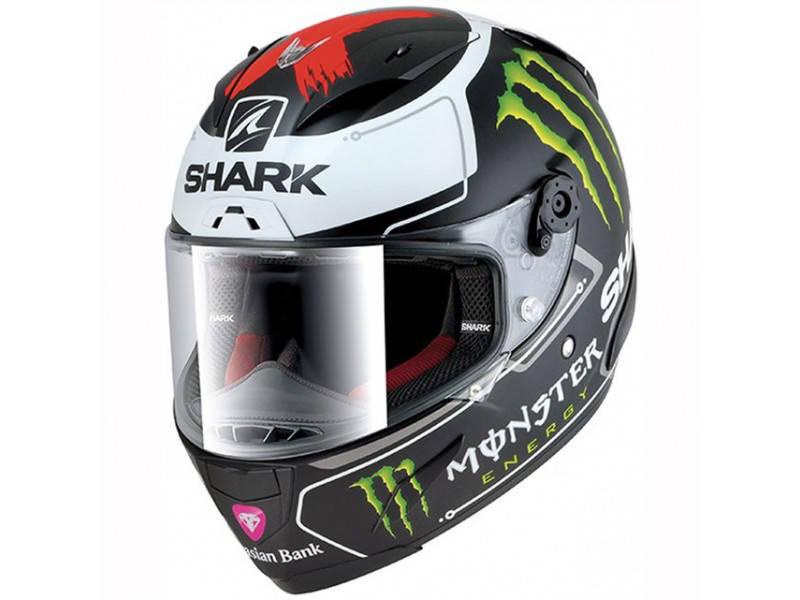 Шлем Shark Race-r Pro Lorenzo Monster р.L, черно-белый