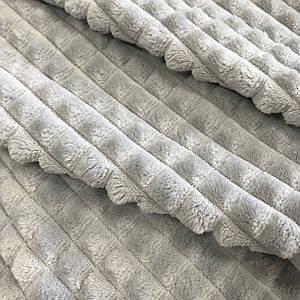 Плюшевая ткань MINKY ПИРАМИДА  серый (плот. 350 г/м.кв)
