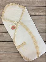 """Нежнейший Конверт-одеяло  """"Latte"""" на хлопковом подкладе (молочный)"""