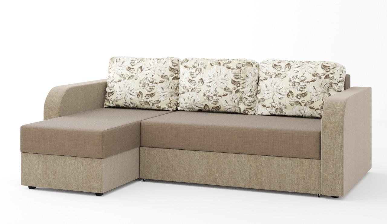 Диван Балтика Угловой Gold Brown 2, Perseus 1025, Silvia white 04 (SOFYNO TM) - АБВ мебель в Днепре