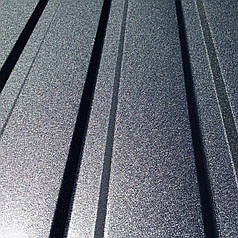 Профнастил  для забора, цвет: Графит ПС-20, 0,45 мм; высота 1.5 метра ширина 1,16 м