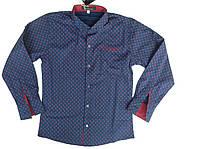 Оригинальная рубашка для мальчика-подростка в расцветке
