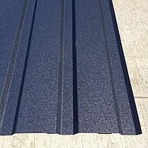 Профнастил  для забора, цвет: Графит ПС-20, 0,45 мм; высота 2 метра ширина 1,16 м, фото 2