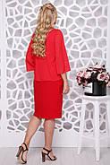 Женское нарядное платье Мелодия / цвет красный / размер 50-58, фото 2