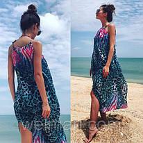 Женская стильная принтованная пляжная туника (расцветки) Код: МИ 114 (велмар)
