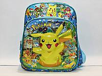 Яркий школьный рюкзак из плотного текстиля с мультгероями.