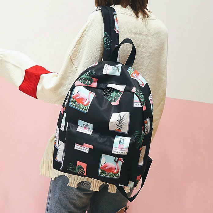 Городской рюкзак Фламинго и Ананасы