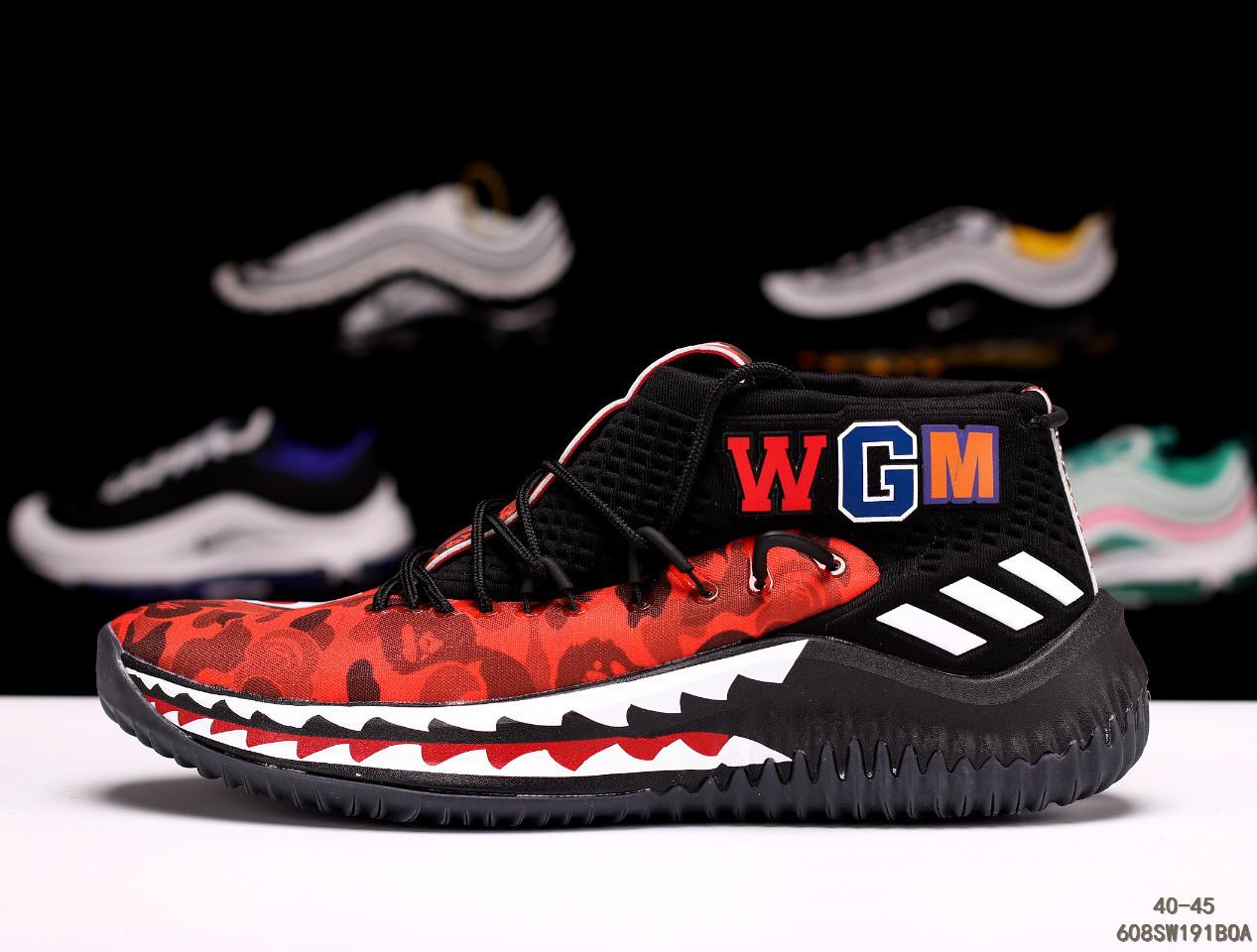 buy online 8f14c 91c02 Кроссовки Adidas Dame 4 x Bape адидас мужские женские 608SW191BOA реплика