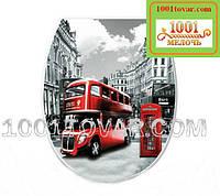 """Пластиковое сиденье с крышкой для унитаза """"Лондон"""" (London)"""